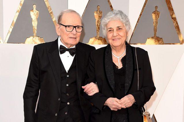 Ennio Morricone con la moglie Maria