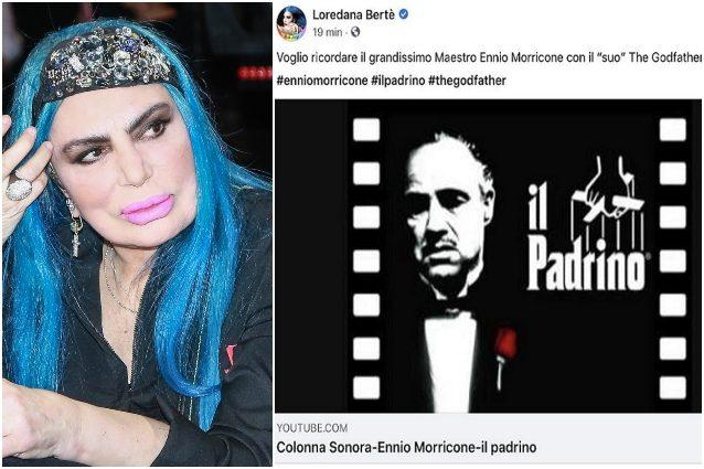 Loredana Bertè omaggia Ennio Morricone ma sbaglia film