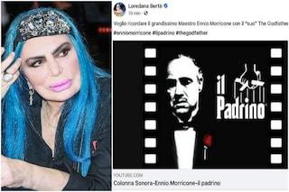 Gaffe di Loredana Bertè su Ennio Morricone: cita Il padrino ma le musiche sono di Nino Rota