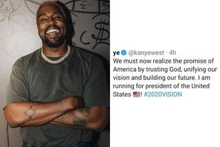 Kanye West vuole diventare Presidente degli Stati Uniti e annuncia la sua candidatura