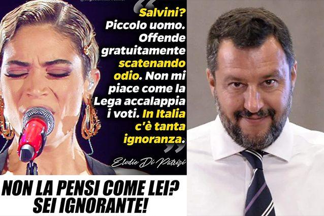 Elodie critica Salvini e finisce nel mirino della Bestia leghista