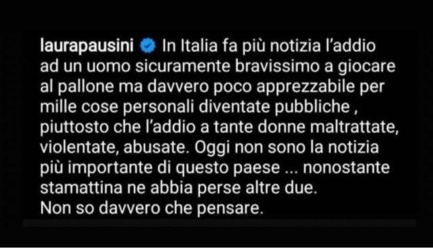Laura Pausini contro Maradona: