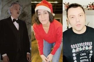 Giorgia, Tiziano Ferro, Andrea Bocelli: gli auguri di Natale sono speciali