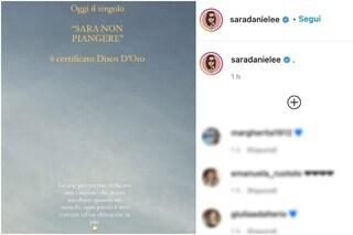 """""""Sara non piangere"""" è disco D'Oro, la dedica di Sara Daniele al padre"""