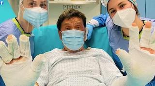 """Gianni Morandi parla dopo l'ustione: """"Sono stato fortunato"""", il video girato dalla moglie Anna"""