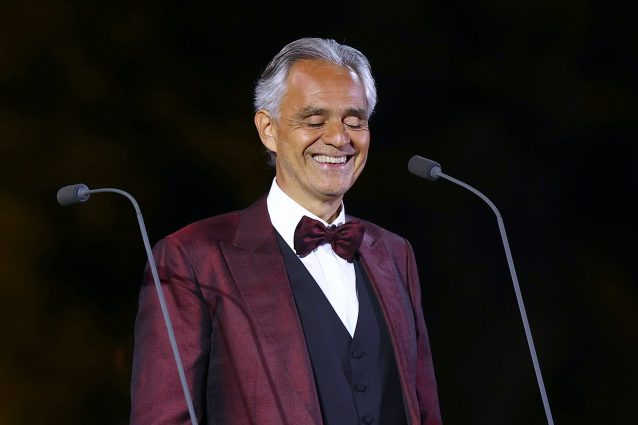 Andrea Bocelli (Photo by Francois Nel/Getty Images for The Royal Commission for AlUla)