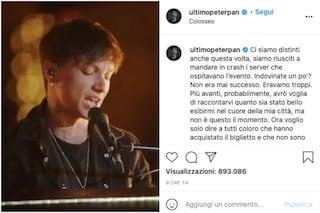"""Ultimo risponde ai fan esclusi dal suo concerto al Colosseo: """"Non era mai successo"""""""