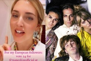 Chiara Ferragni invita il pubblico a votare per i Maneskin all'Eurovision