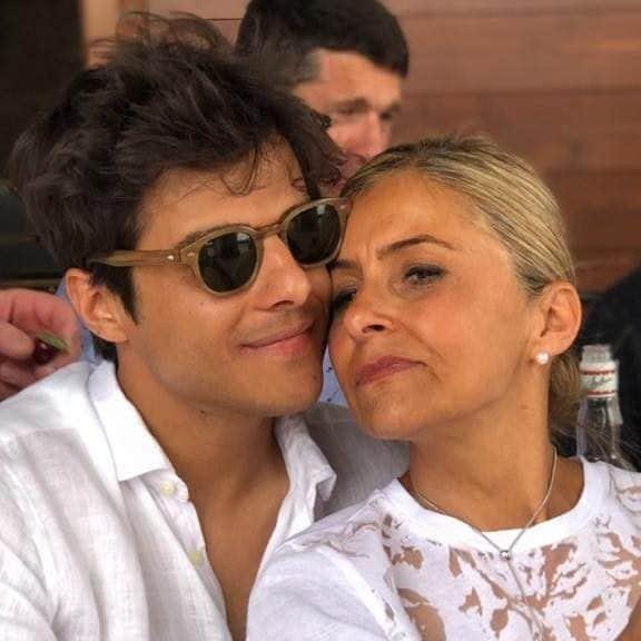 Michele Merlo con mamma Katia