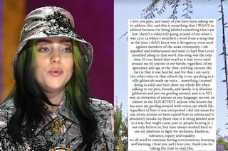 """Billie Eilish si scusa per vecchie frasi razziste: """"Sono sconvolta, non volevo offendere nessuno"""""""