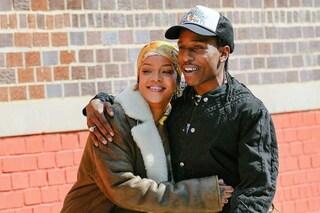 Asap Rocky e Rihanna paparazzati insieme mentre giravano un video musicale a New York
