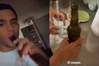 La scommessa di Aka7even, birra dopo la vittoria dell'Italia: il cantante è astemio a causa del coma