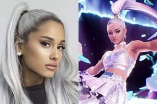 Ali, martelli e inseguimenti volanti per Ariana Grande su Fortnite: ecco com'è andato il concerto