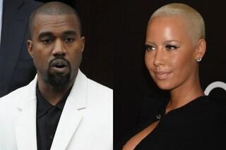 """Kanye West alla ex Amber Rose: """"Dopo di te, 30 docce prima di stare con Kim"""""""