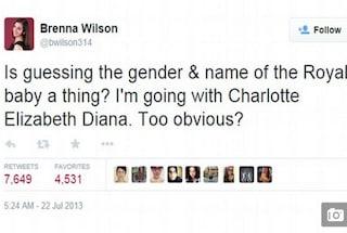 Aveva indovinato il nome della Royal Baby due anni fa, quando Kate era incinta di George