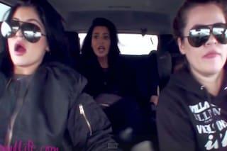 Kim Kardashian choc, il filmato dell'incidente con Khloé e Kylie Jenner (VIDEO)