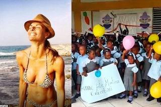 I 40 anni di Martina Colombari festeggiati con i bambini di Haiti
