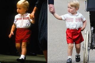 Per il battesimo di Charlotte, George veste lo stesso outfit del padre 30 anni prima