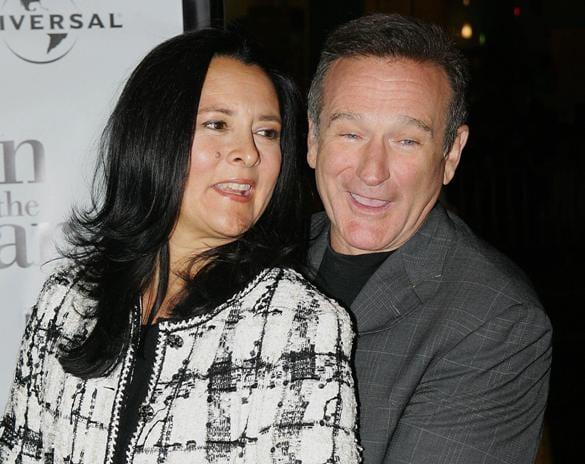 Robin Williams con Marsha Garces. Prima di diventare sua moglie, Marsha si prendeva cura dei figli avuti dal divo dalla prima compagna Valerie Velardo.