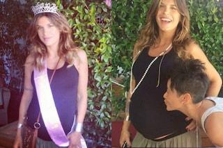 """Elisabetta Canalis alla festa prima del parto: """"La piccolina sta arrivando!"""""""