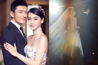 Nozze da 20 milioni di sterline per la Kim Kardashian cinese, Angelababy sposa Xiaoming