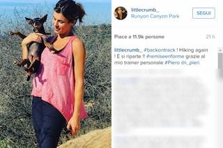 """Elisabetta Canalis in forma dieci giorni dopo il parto: """"Ho ripreso a fare hiking"""""""
