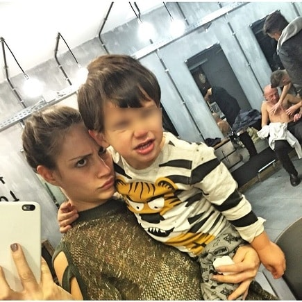 Beatrice con suo figlio Alessandro