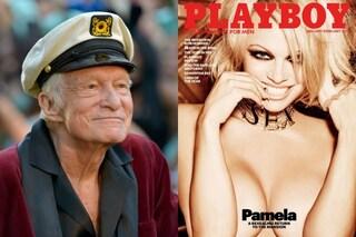Pamela Anderson è l'ultima coniglietta a posare nuda sulla copertina di Playboy