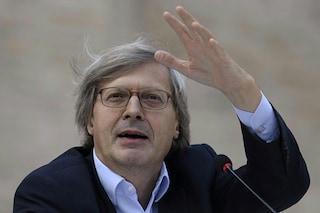 """Vittorio Sgarbi sta bene: """"Capre, sono ancora qui"""""""