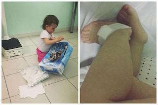 La figlia di Micol Olivieri ricoverata in ospedale, Arya ha solo 1 anno e mezzo