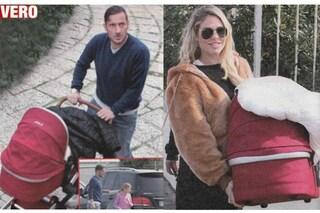 Francesco Totti e Ilary Blasi: la prima uscita di Isabel con Cristian e Chanel