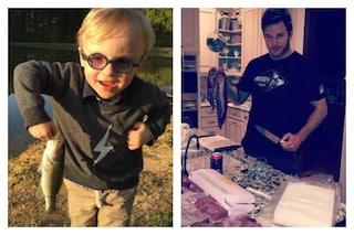 """Jack, figlio di Chris Pratt, ha 3 anni ed è già un asso della pesca: """"Come il suo papà"""""""