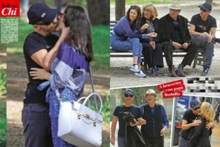 Ramazzotti e Marica tra baci e relax al parco, c'è anche il papà di Eros
