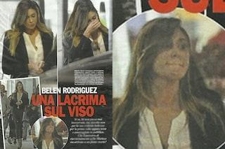 Belen Rodriguez in lacrime all'aeroporto di Napoli, qualcosa la turba