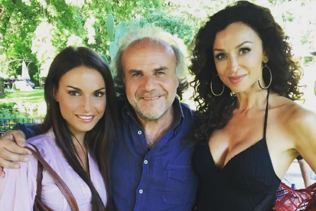 Francesca De André con Jerry Calà e Sofia Milos