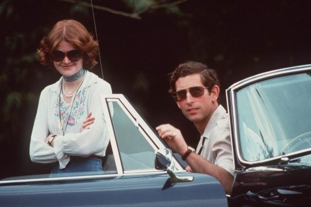 Carlo con Sarah Spencer, sorella di Diana