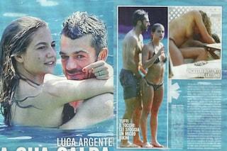 Luca Argentero e Cristina Marino, vacanze hot: baci, palpatine e coccole in topless
