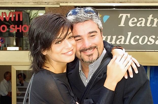 Pino Insegno con l'ex moglie Roberta Lanfranchi