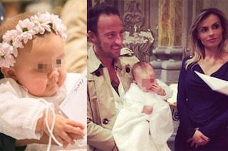 Francesco Facchinetti e Wilma Helena Faissol festeggiano il battesimo della figlia Lavinia