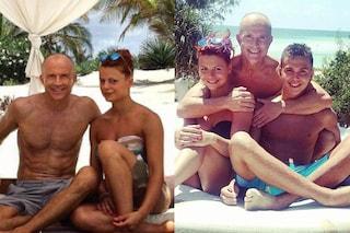 Giorgio Mastrota insieme con Natalia e Federico, vacanze in Kenya con i figli