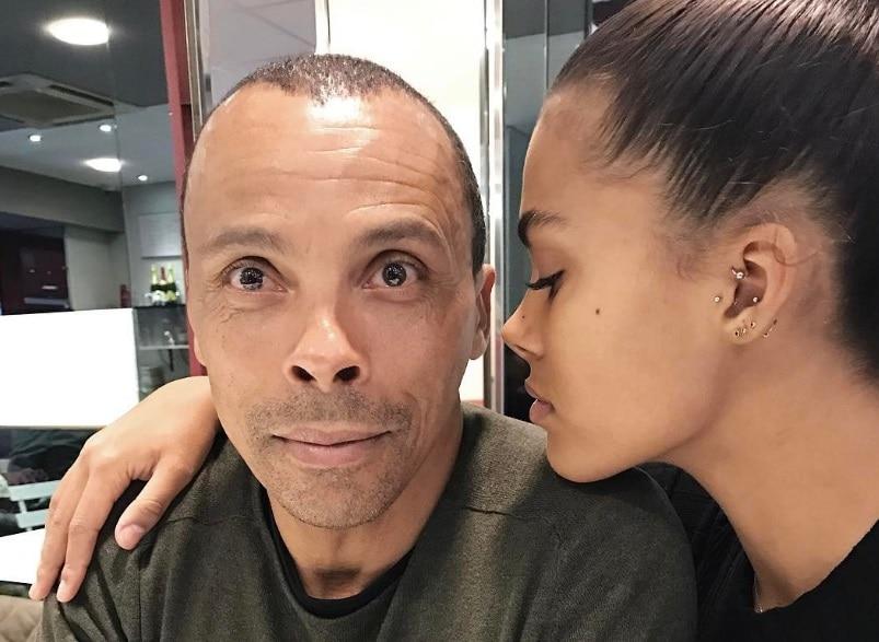 Tina con il padre Robin