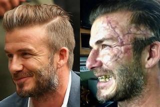 David Beckham col volto rovinato dalle cicatrici, ma è solo per un film