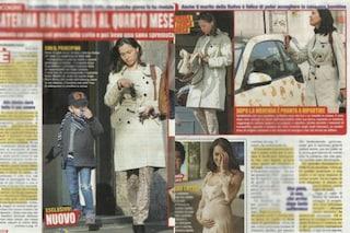 Caterina Balivo al quarto mese di gravidanza, le prime foto del pancino