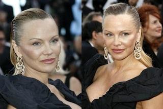 Pamela Anderson arriva a Cannes, ma sul red carpet è irriconoscibile