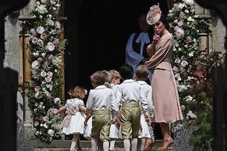Kate Middleton sgrida il piccolo George al matrimonio di Pippa Middleton