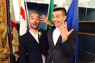 Diego Passoni ha sposato il compagno storico Piermario Simula, l'unione civile a Milano