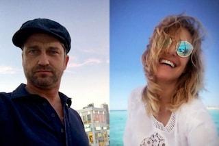 Barbara d'Urso a Ischia con Gerard Butler, star hollywoodiana ed ex di Madalina Ghenea
