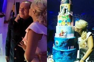"""Francesca Pascale compie 32 anni e festeggia con Berlusconi e torta """"Disney"""" a 5 piani"""