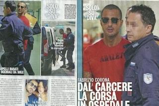 Malore in carcere per Fabrizio Corona, scortato in ospedale dagli agenti