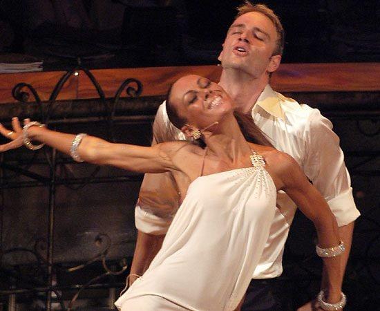Rosolino e Titova durante Ballando con le stelle.